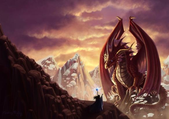"""Capa do livro """"A Magia dos Dragões"""""""
